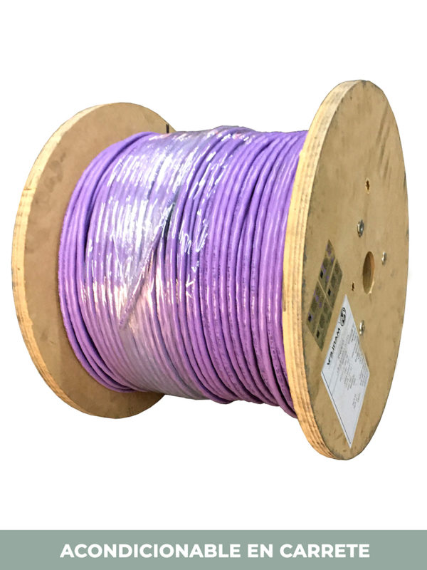 carrete cable violeta