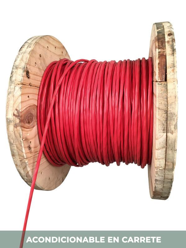 carrete cable rojo instrumentacion electronica incendios